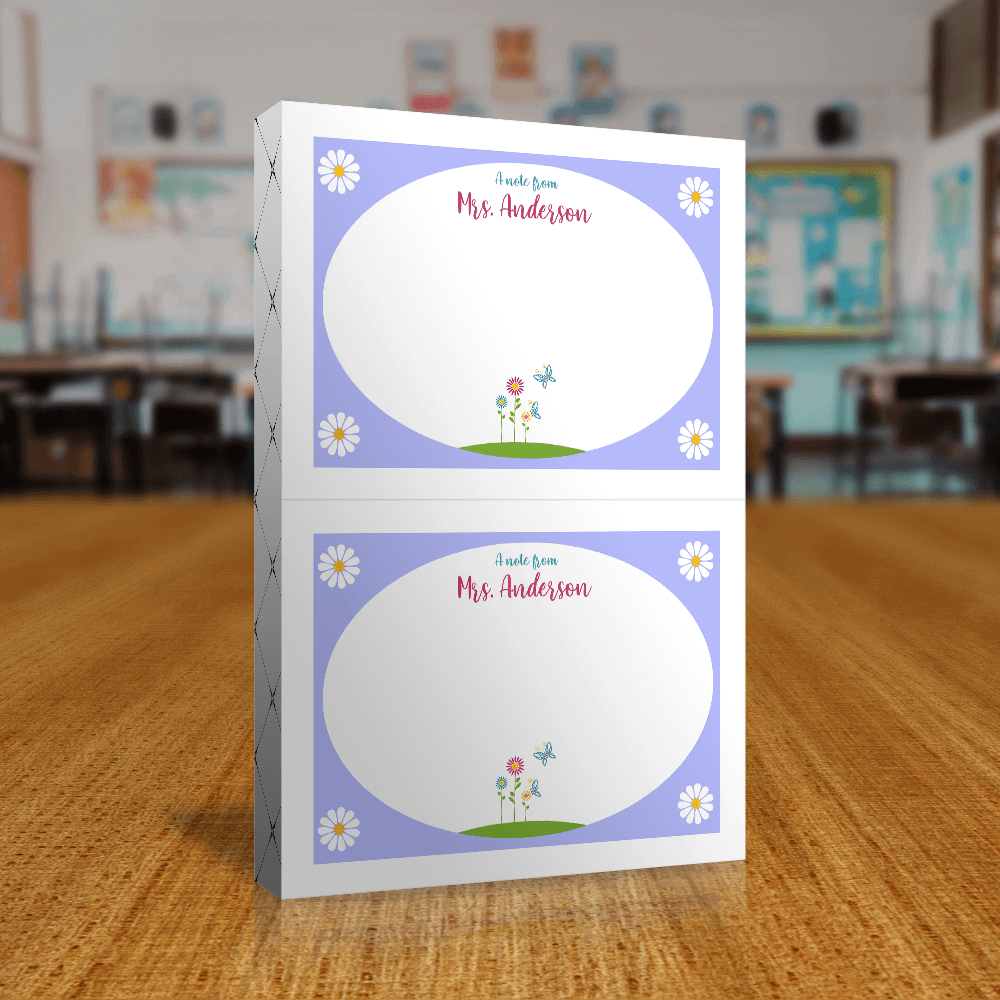 Teacher Gift Sticky Notes Front of Packaging