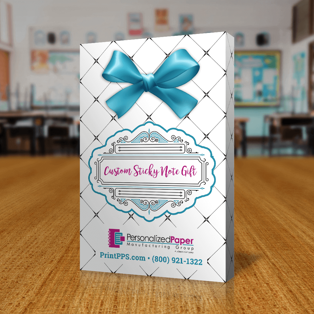 Teacher Gift Sticky Notes Back of Packaging