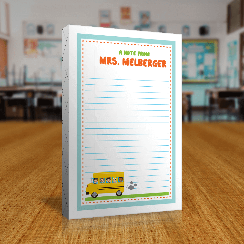 Teacher Gift Notepads Front of Packaging