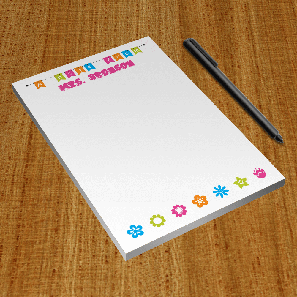 Teacher Gift Notepads Product Preview