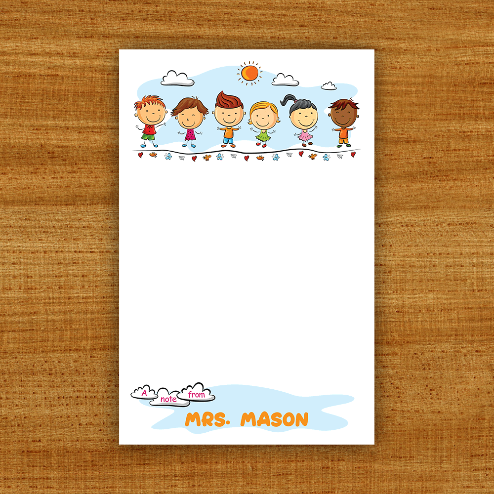 Teacher Gift Notepads Template Preview
