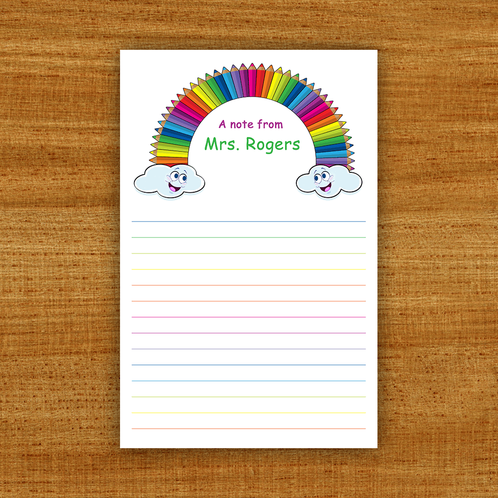 Teacher Gift Notepads Template Preview