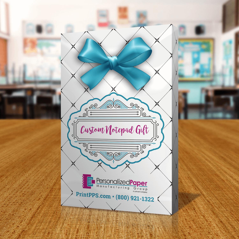 Teacher Gift Notepads Back of Packaging
