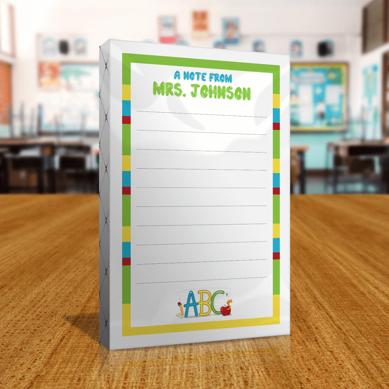 Teacher Gift Notepads Front of Packaging