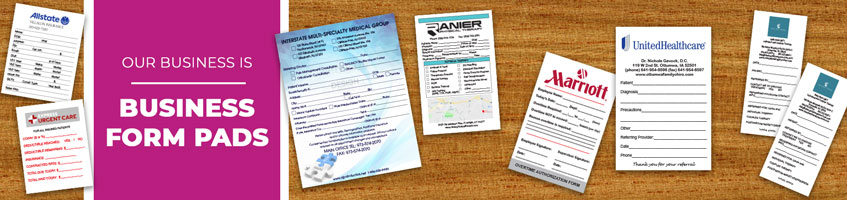 Custom Business Form Notepad Products