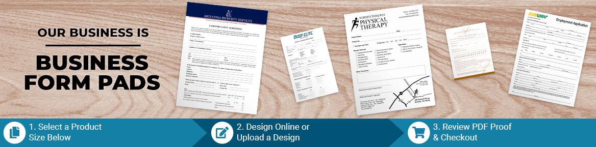 Custom Business Form Pad Products