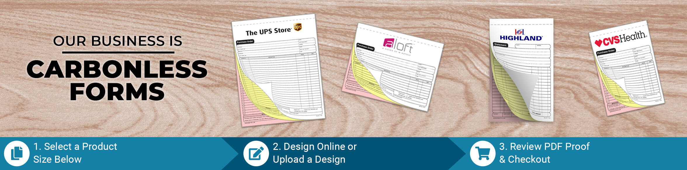 Custom Carbonless NCR Forms
