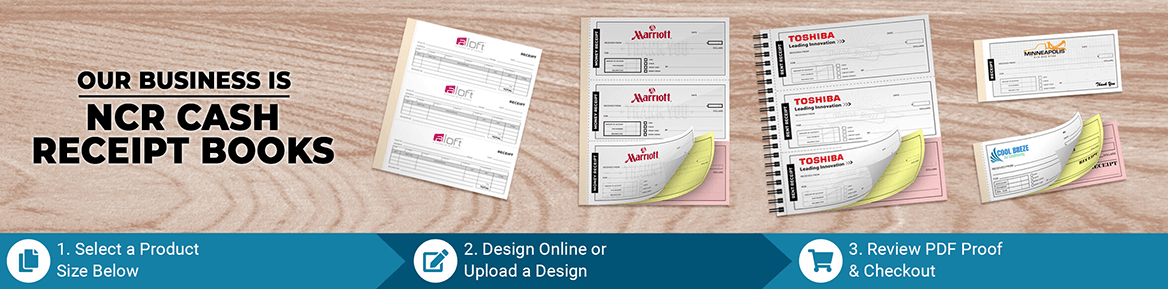 Custom Carbonless NCR Receipt Book Products