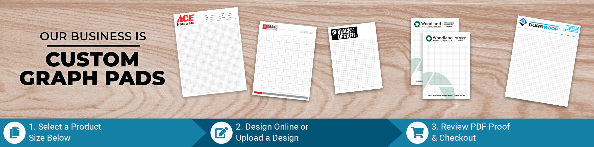 Custom Graph Paper Pad Products