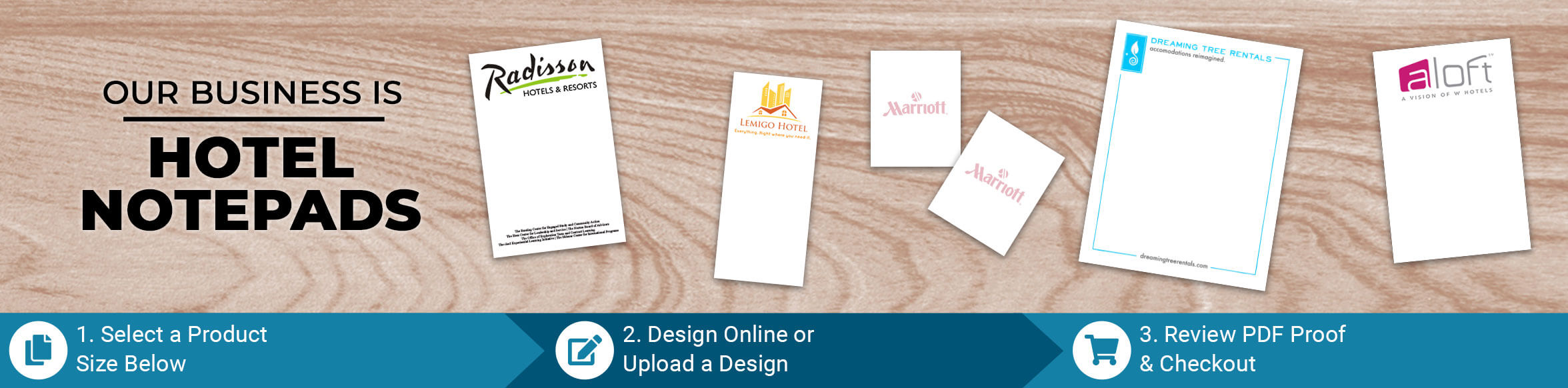 Custom Hotel/Motel Notepad Products