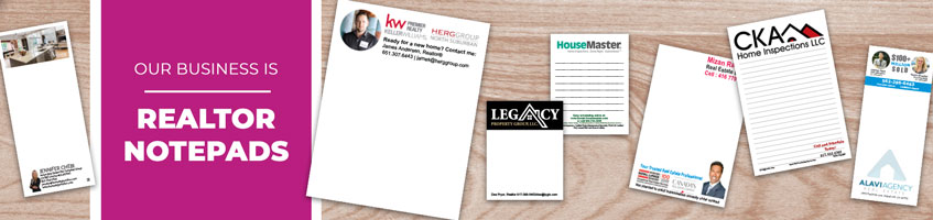 Custom Real Estate/Realtor Notepad Products