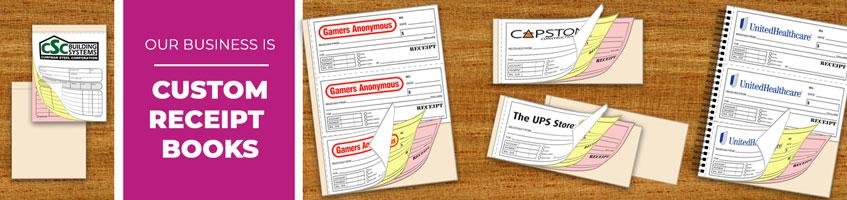 Custom Carbonless Ncr Receipt Books
