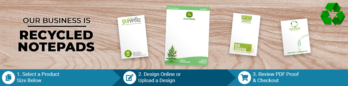 Custom Environmentally Friendly Recycled Notepad Products