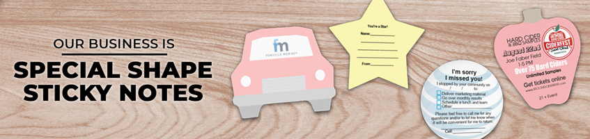 Custom Special Shaped Sticky Note Products