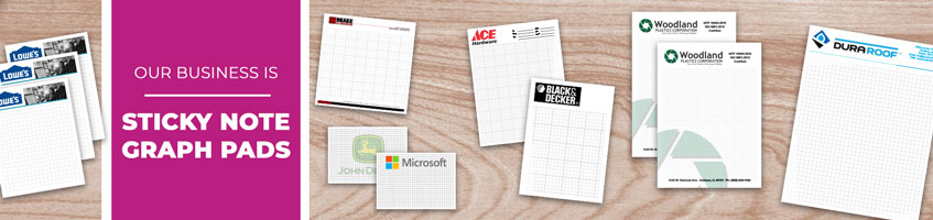 Custom Sticky Note Graph Pad Products