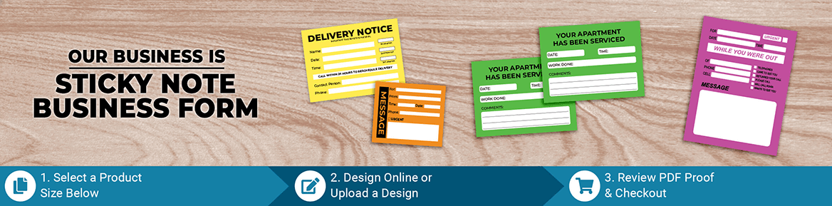Custom Business Form Sticky Note Products