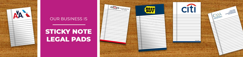 Custom Sticky Note Legal Pad Products