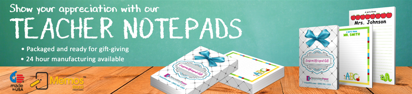 Teacher Gift Notepad Products