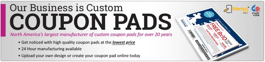 custom coupon pad printing printpps com