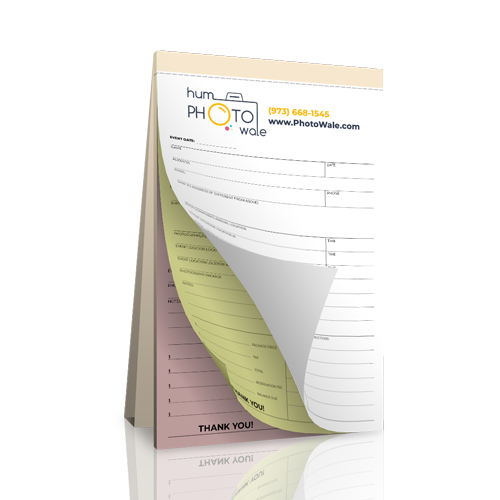 Carbonless Photography Receipt Book