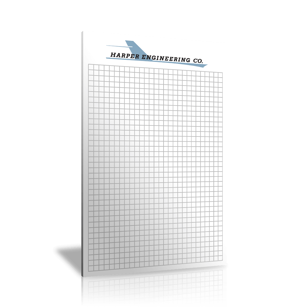 "6"" x 9"" Custom Graph Paper Pads"