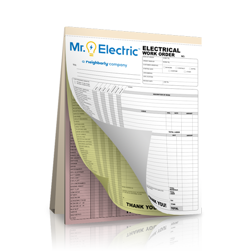 NCR Electrical Receipt Book
