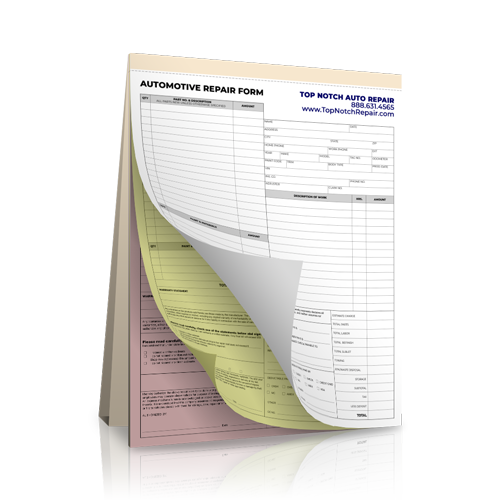 NCR Automotive Receipt Book