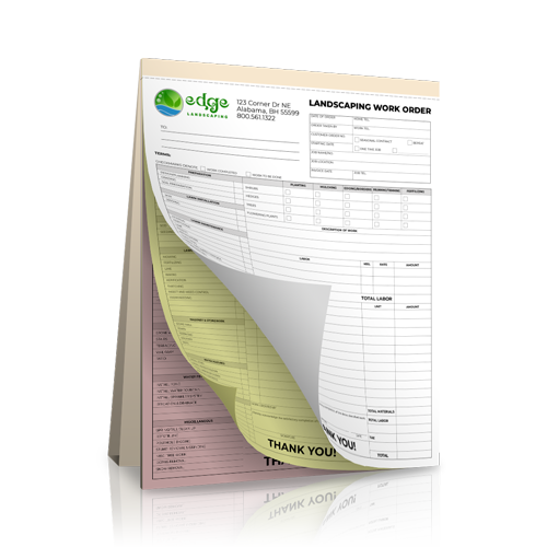 NCR Landscaping Receipt Book