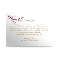 Blossums Flat Sympathy Thank You Cards