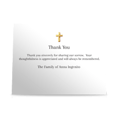 Christian Flat Sympathy Thank You Cards