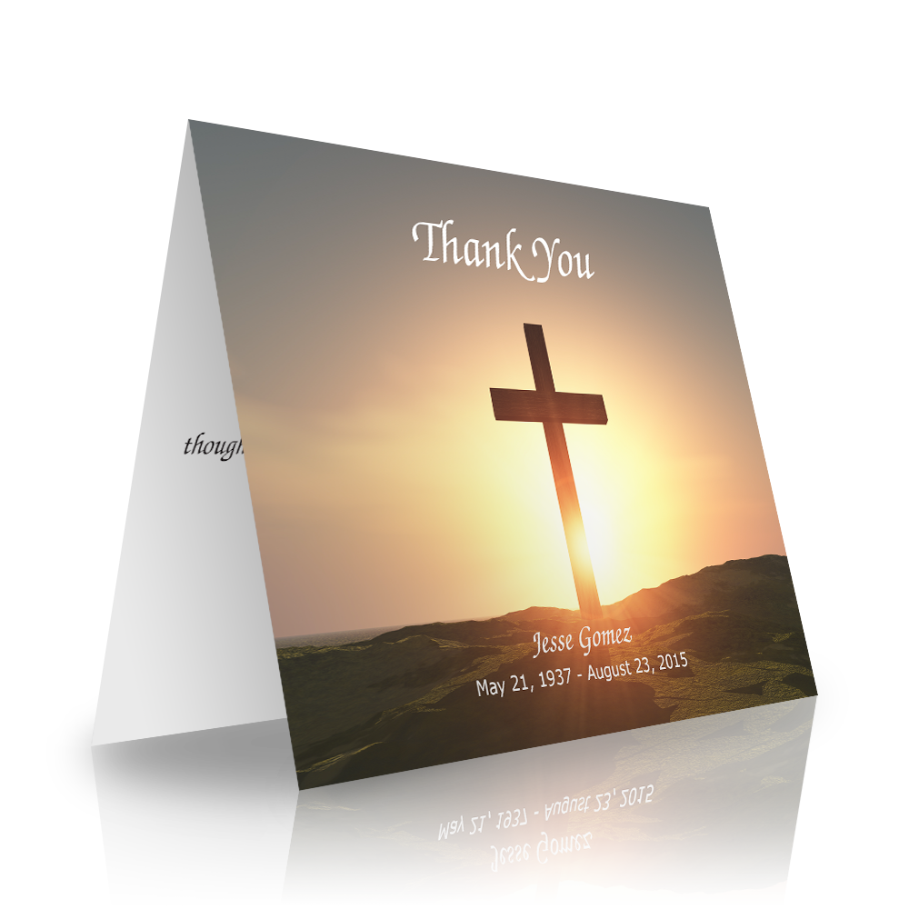 Cross Folded Sympathy Thank You Cards