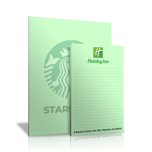 Green Colored Notepads