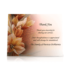Floral Flat Sympathy Thank You Cards