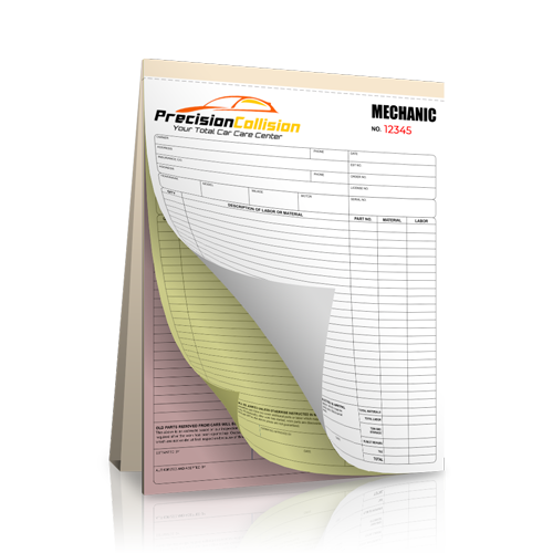 NCR Mechanic Receipt Book