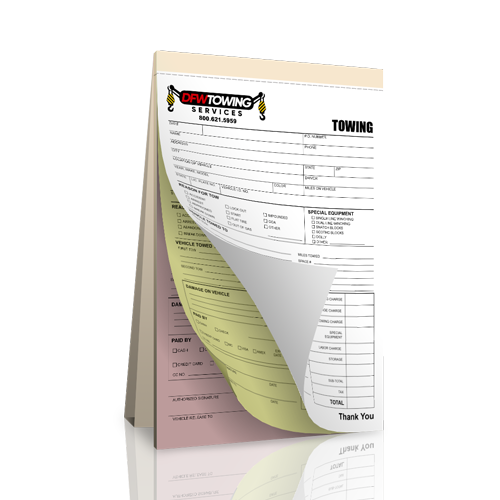 NCR Towing Receipt Book