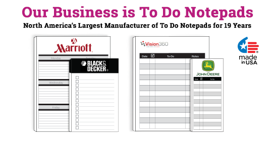 Things to do notepads