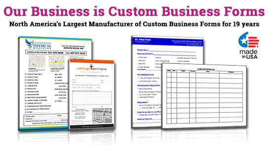 promotional business form pads