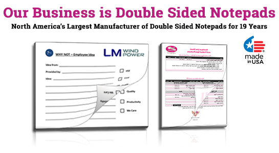 printing double sided notepads