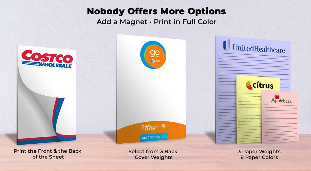 cheap custom notepads wholesale