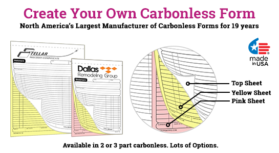 design your own carbonless form