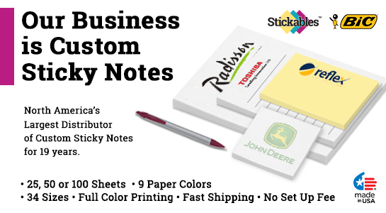 3 x 4 Custom Post It Notes Sticky Notes Stickables Bic