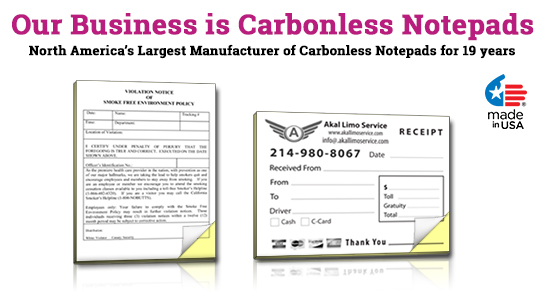carbonless ncr notepads 2 part