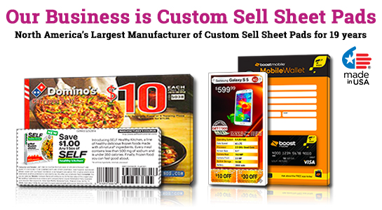 "Sell Sheet Pads: 3"" X 5"" 