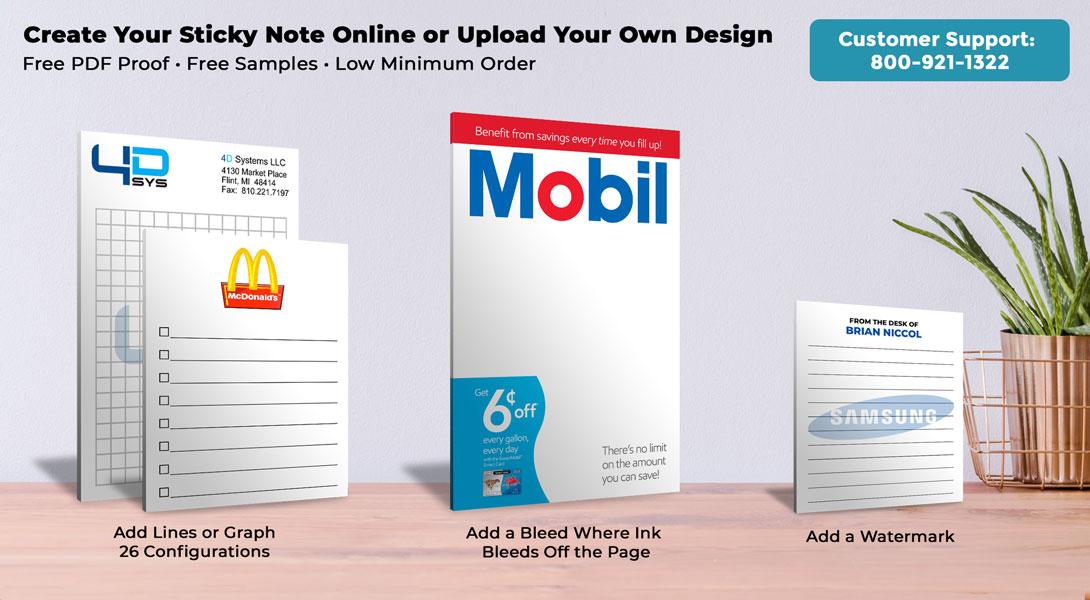 customized sticky note pad