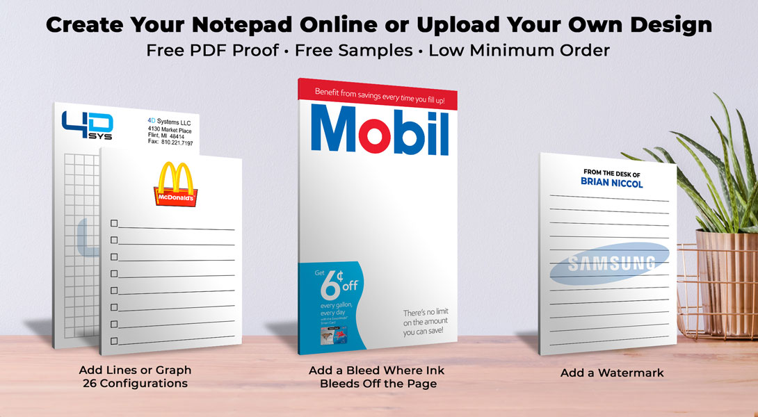 logo note pads