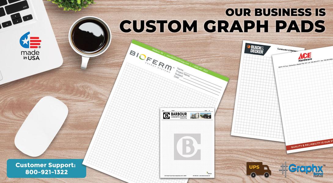 custom engineering paper pads
