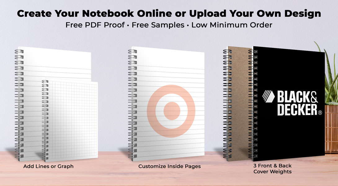 custom printed notebook pages