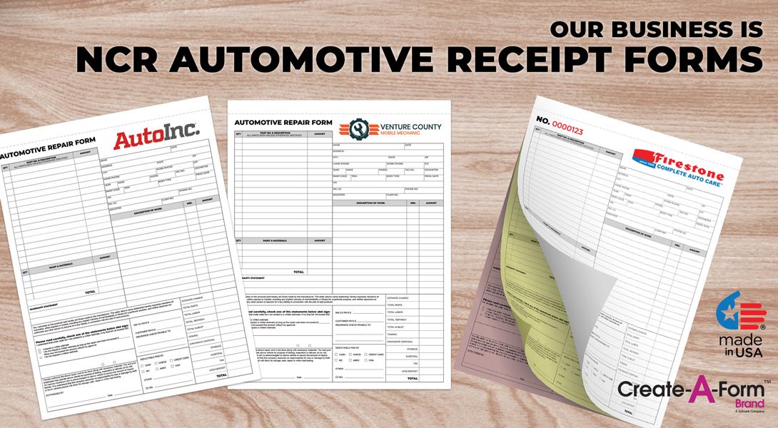 auto repair receipts