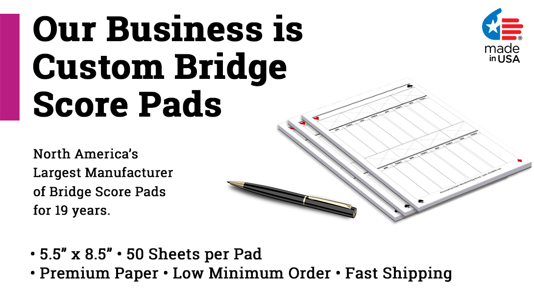 contract bridge score pads