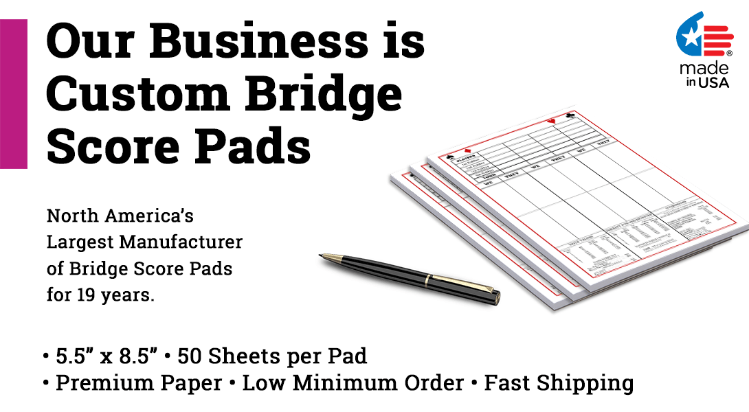 Personalized bridge score pads